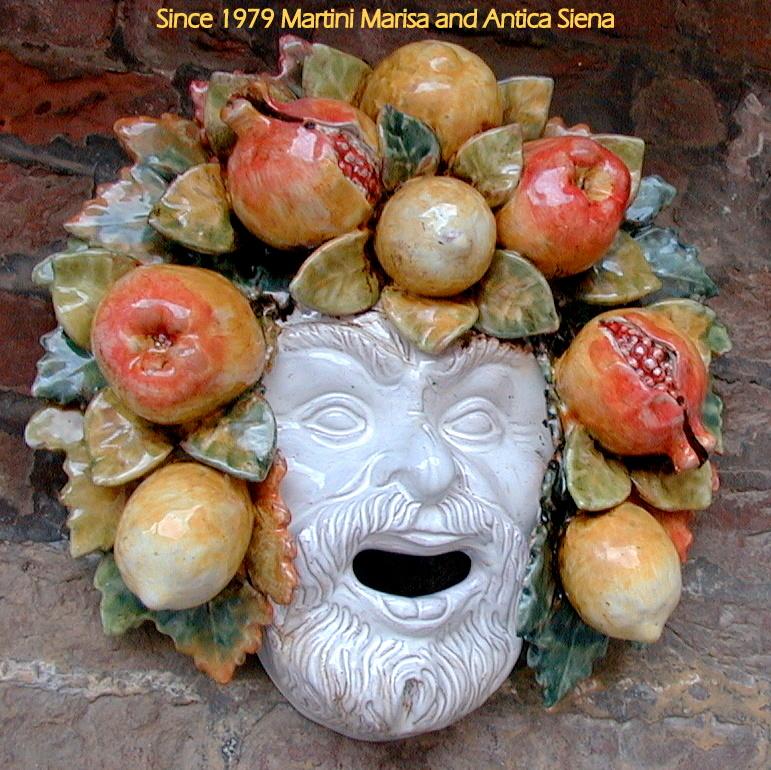 MASCHERA BACCO 15509 A cm. 34 x 32