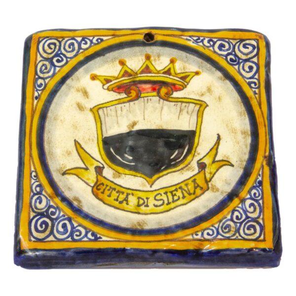 Mattonella di Ceramica decorata a mano