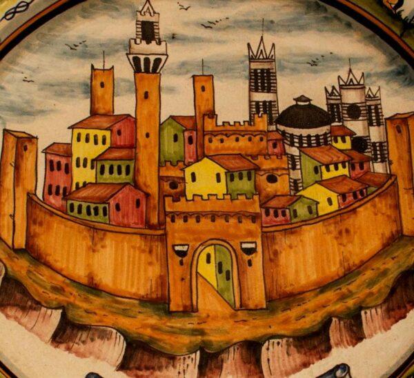 Piatto con Contrade di Siena