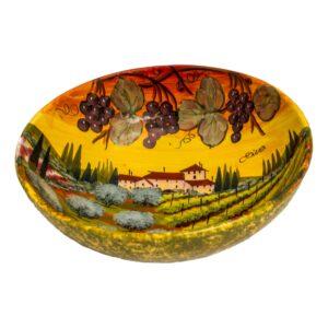 Bolo fatto a mano in ceramica di Siena